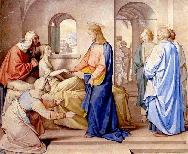 Johann Friedrich Overbeck, La resurrección de la hija de Jairo