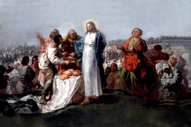 Goya, La multiplicación de los panes y los peces (Oratorio de la Santa Cueva, Cádiz)