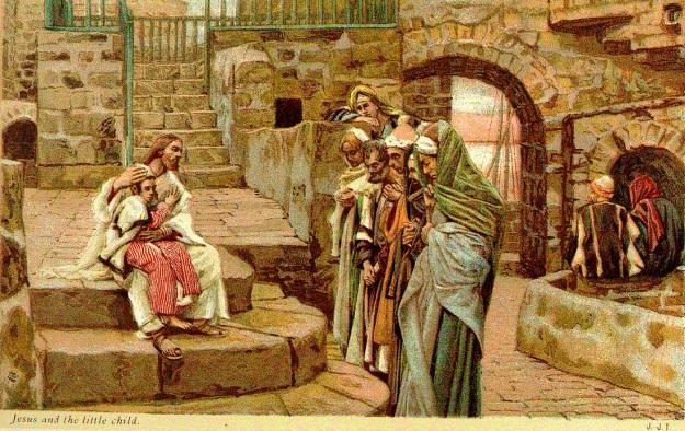 Tissot, Jesus y los pequeños