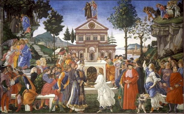 Boticelli. Las Tentaciones de Cristo
