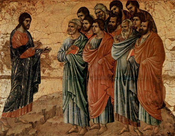 Jesús y los discípulos, 1308-1311. Duccio di Buoninsegna