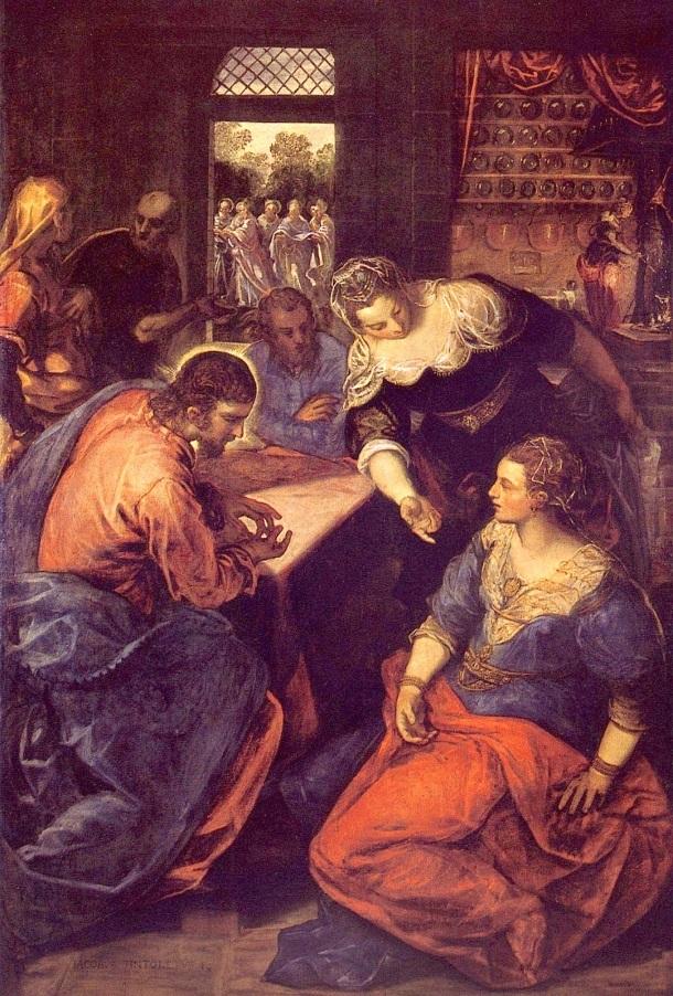 Jesus en casa de Marta y Maria, Tintoretto
