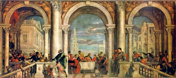 Cena en casa de Leví, Paolo Veronese 1573