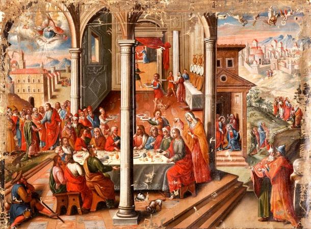 El Maestro de Santa Teresa, The Meal at the Home of Simon the Leper