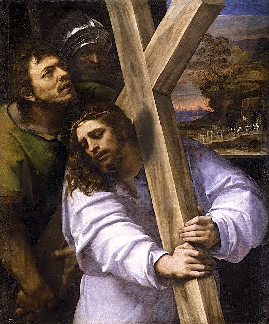 Jesus con la Cruz a cuestas - Sebastiano del Piombo 1416