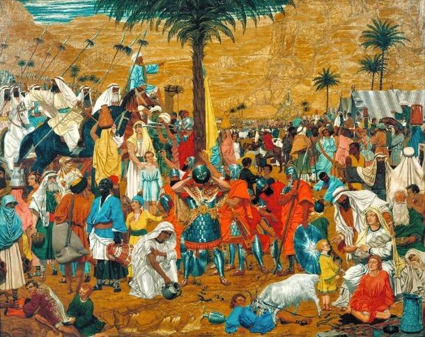La huida de Egipto, Richard Dadd,1849
