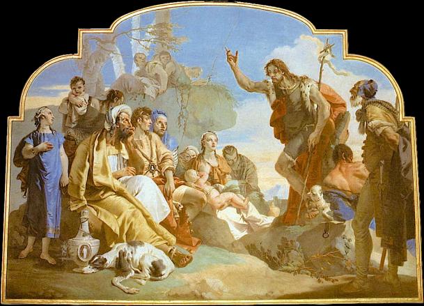 San Juan Bautista predicando a fieles